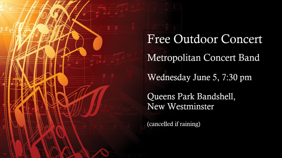Free Community Band Concert | City of New Westminster